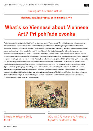 Barbara Balážová: What's so Viennese about Viennese Art? Outside look
