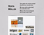Herta Müller: Where One Cannot Speak: Word as Image, Image as Word