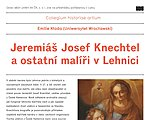Lecture by Emilie Kloda: Jeremiah Joseph Knechtel and other painters in Lehnica