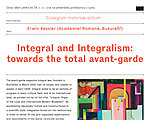 Lecture by Erwin Kessler: Integral and Integralism: towards the total avant-garde