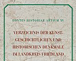 Karl Friedrich Kühn: A Register of Art-Historical and Historical Heritage Sites in the Friedland District.  (ed) Kristina Uhlíková